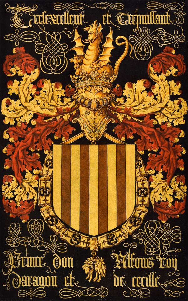 N01: Alfons V van Aragón, koning van Aragón en Sicilië